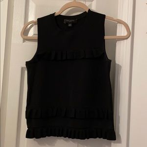 Ruffle detail black tank